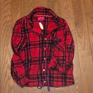 VS NWT 2019 plaid night shirt/lounge outfit